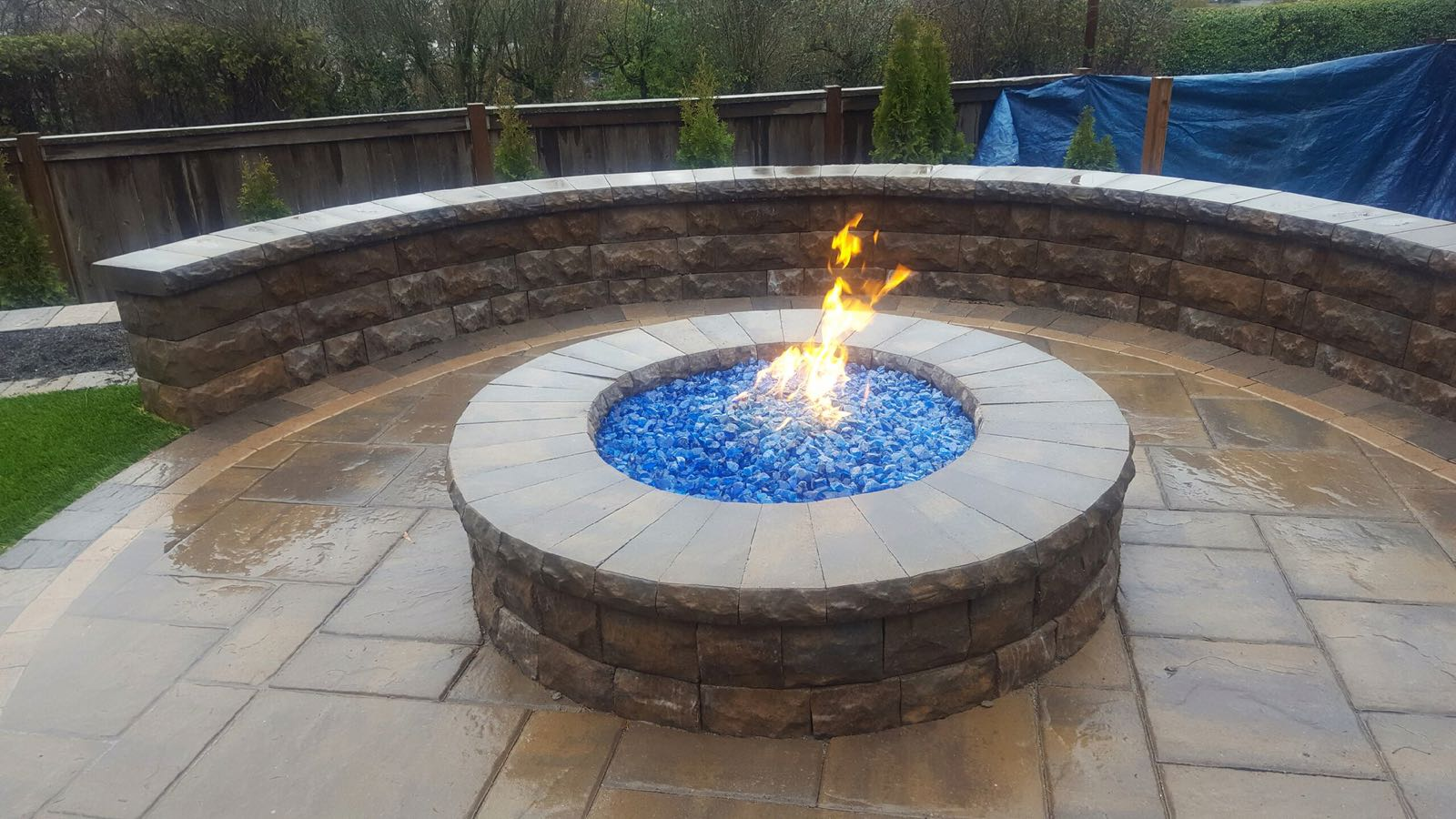 Paver Fire Pit Patio And Retaining Wall - Expert Paver Company