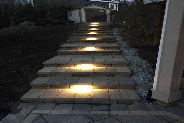 Paving Stone Outdoor Steps With Lighting Expert Paver