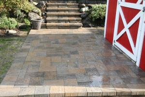 Paving Stone Stairs And Patio