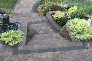 Paving Stone Steps And Retaining Walls